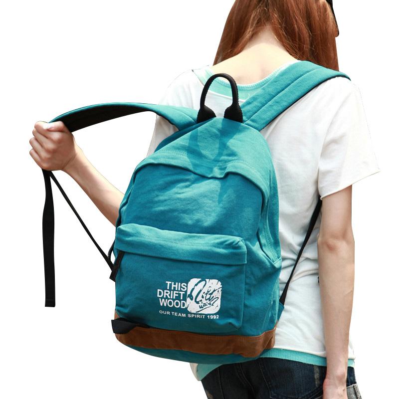 漂流木帆布包女韩版潮双肩包男背包旅行包包休闲学生书包女包