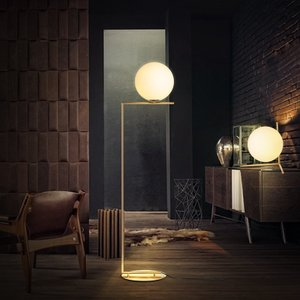 kc现代简约玻璃球立灯落地灯北欧个性卧室床头客厅沙发圆球落地灯