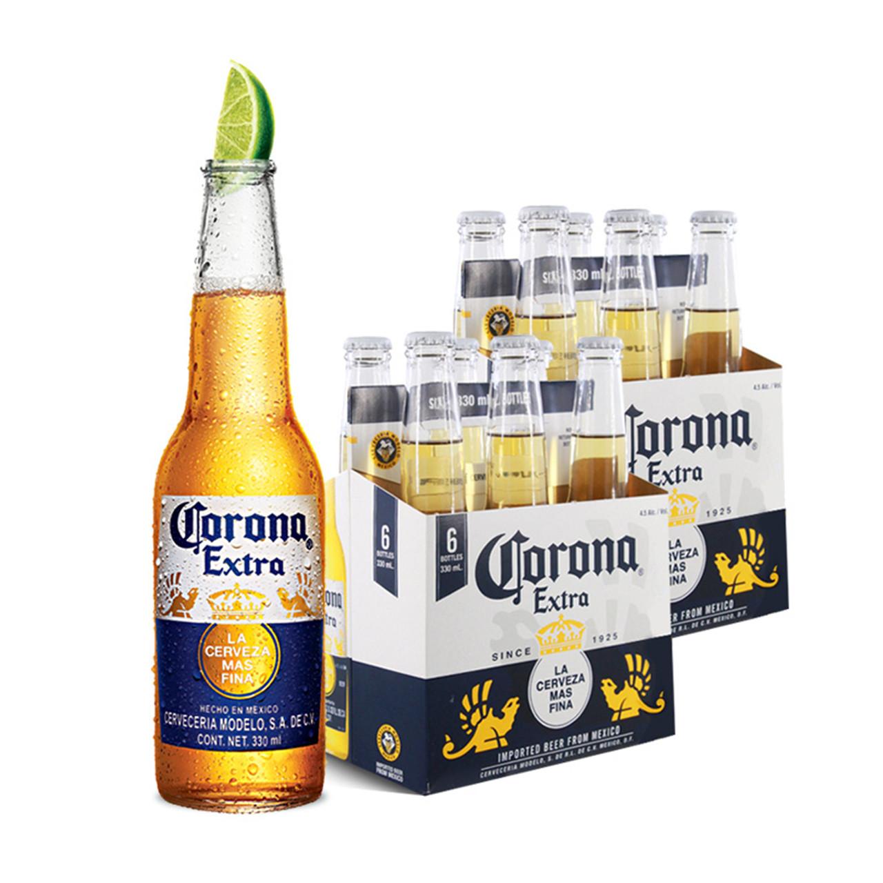 ~天貓超市~墨西哥  科羅娜啤酒330ml^~6^~2 瓶 大包裝