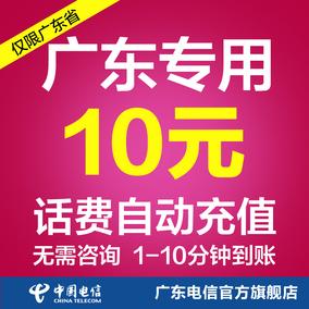 广东电信10元话费充值 快充 即时到帐 自动充值 电信官方旗舰店1