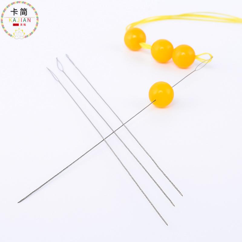 Карта простой украшенный бусами игла витой игла 0.5mm длинная модель надеть шарик бисер браслет браслеты аксессуары diy культура играть ведущий игла