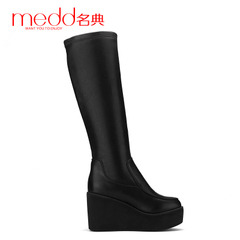 Medd/name code 2015 fall/winter new style women boots platform wedges boots at the end of a sexy skinny thick-soled boots