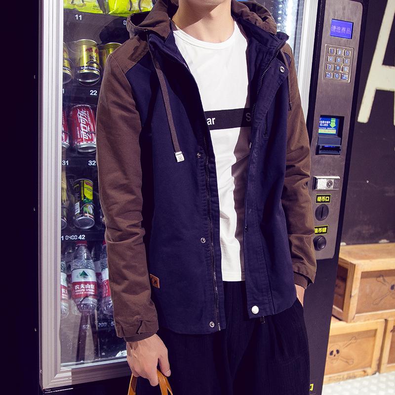 美特斯春秋學生開衫男裝邦威夾克青少年真維斯上衣服2016森馬外套