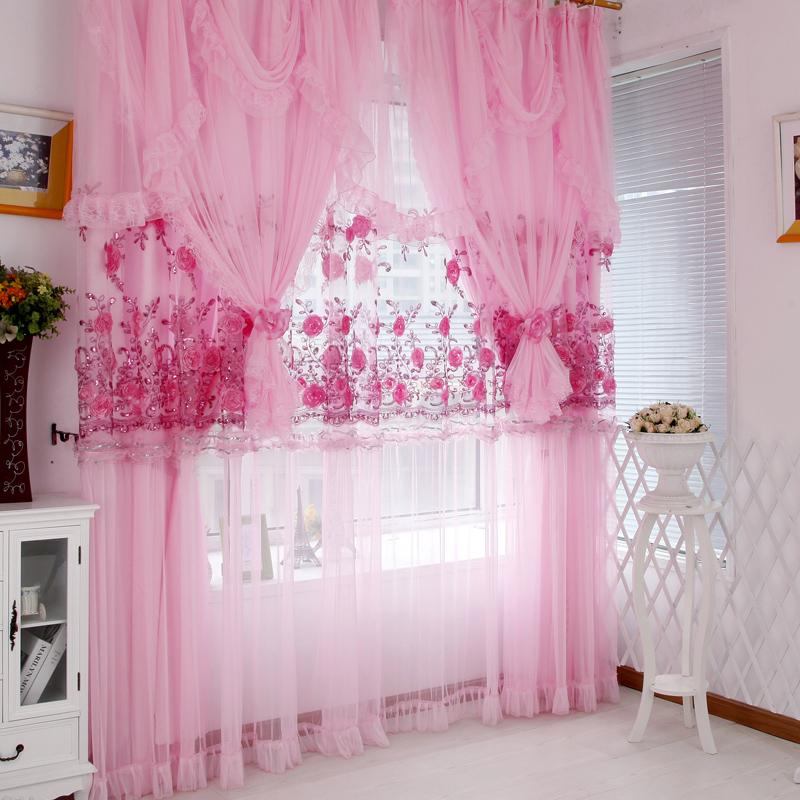 Корейский стиль тюлевые занавески закончил экраны спальня гостиная балкон дом роскоши кружева жаккард пряжи продукта настройки