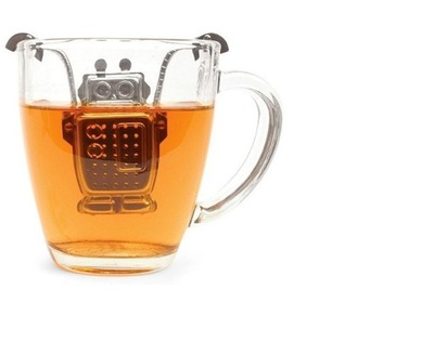 Creative robots make tea Stainless steel tea strainer The tea strainer The tea filter) Lovely tea bags
