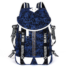 Han edition men shoulder bag, sports leisure travel bag for men and women in blue canvas bag bag students computer bag trend