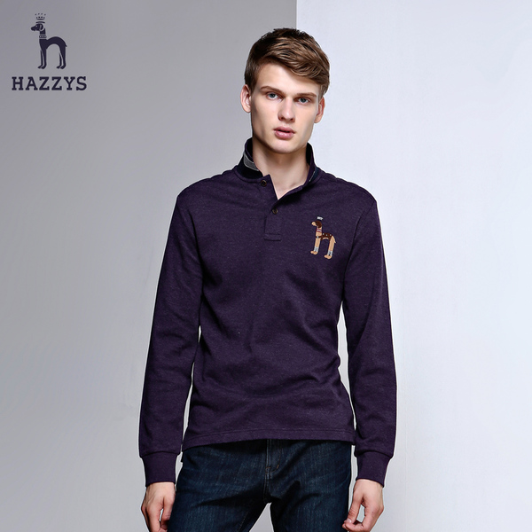 Hazzys Haggis 2015 new fall men's casual lapel T-shirts Youth Fashion England Polo Shirt