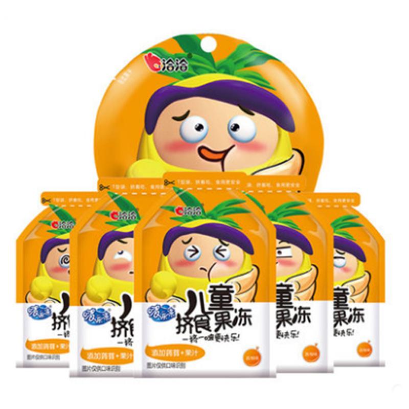 【 рысь супермаркеты 】Qiaqia ребенок сжатие еда желе фруктовый сок освистывать музыка замораживать поглощать желе пудинг грейпфрут вкус 120g