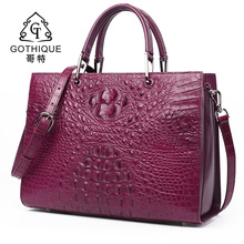 Gothic new imported crocodile leather ladies bag leather handbag ladies large crocodile leather ladies fashion Princess bag