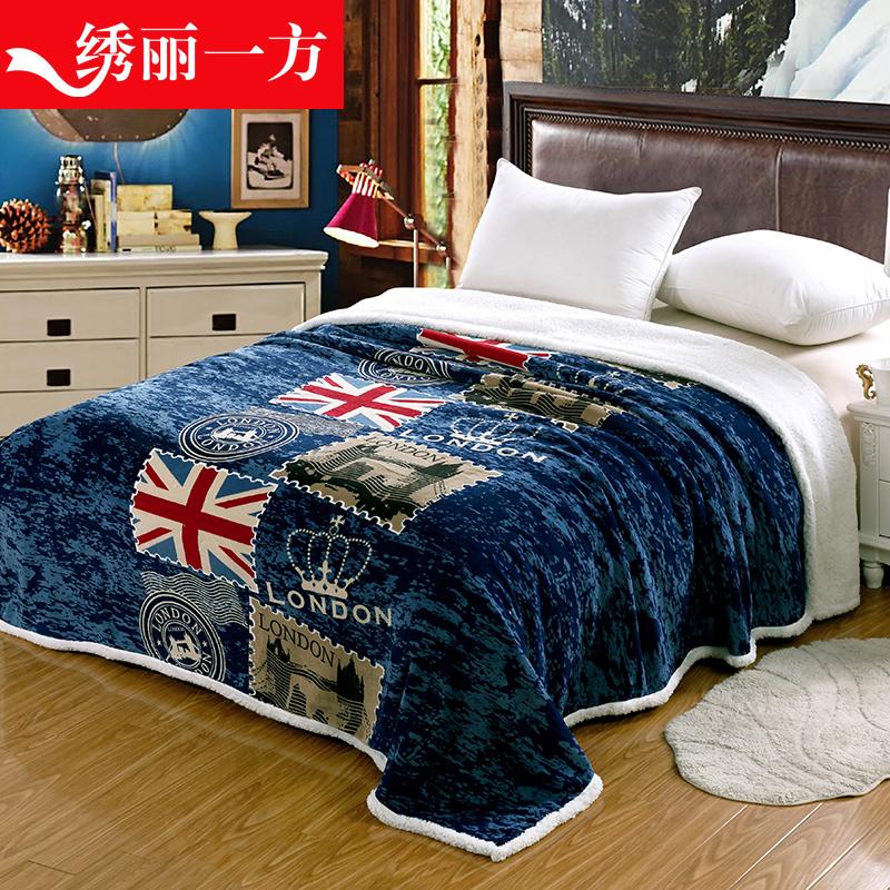 珊瑚絨小毯子雙層法蘭絨加厚空調毯床單單人午睡毯雙人床毛毯蓋毯