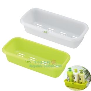 日本进口Inomata浴室小型收纳筐 洗面奶等洗漱用品整理 Leaf系列
