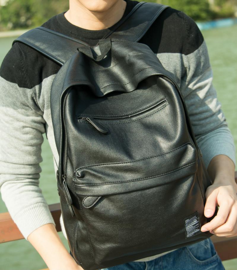 Новая тенденция корейских мужчин PU кожа сумка мужчин и средней школе студенты путешествия мешок компьютера женщин сумка рюкзак