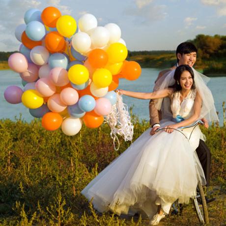 满9.25元可用2.59元优惠券10寸2.2g哑光加厚乳胶亚光飘空气球婚礼房布置装饰拱门生日气球
