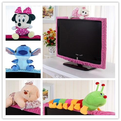 歌罗兰新款毛绒卡通可爱布艺液晶电视机罩子电视套电视边框装饰圈