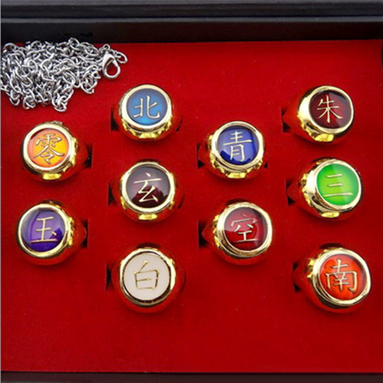 Naruto ring set weasel Didala Payne ring gold necklace [10]