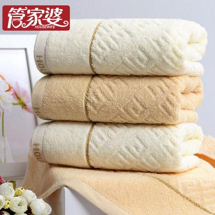 管家婆 纯棉加厚吸水提花柔软毛巾