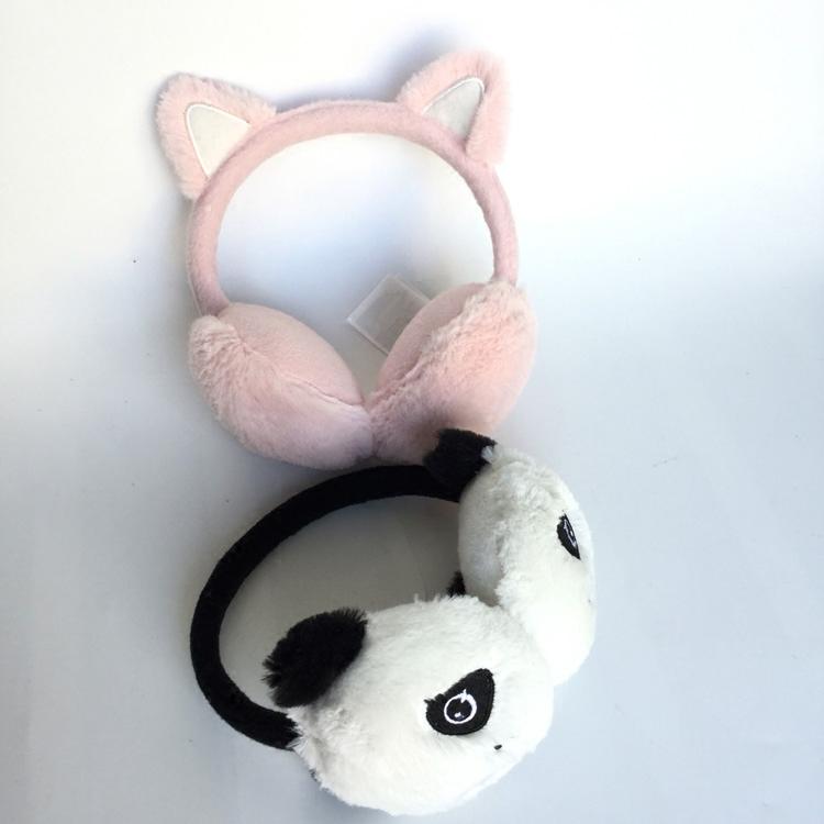 Качественный импортный товар ребенок теплые наушники зима мужской и женщины ребенок теплые наушники шерсть теплый счет цветок, бутон мультики ухо теплый 3 модель