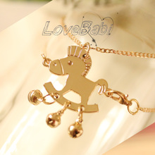 Packages mailed original fashion accessories anklets Titanium steel small Trojan pendant anklets bracelet diy horse bells
