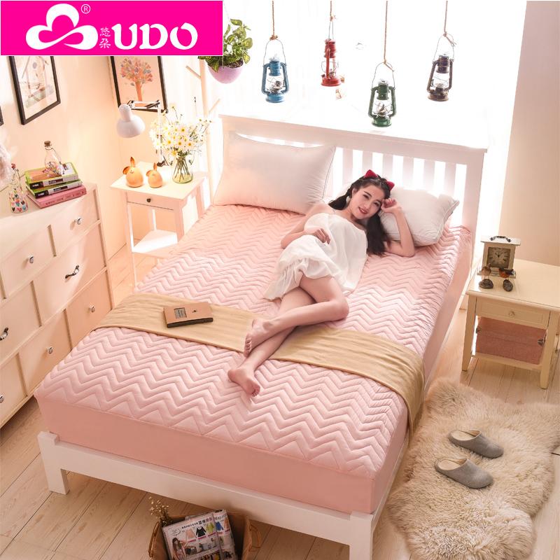 悠朵家紡 床笠加厚夾棉席夢思保護墊床單床套 1.8床罩 床裙 床墊