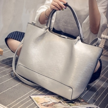 European and American fashion pure color mother contracted big steamed stuffed bun package joker retro handbag shoulder inclined shoulder bag tote bags handbag