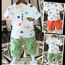 儿童装4夏季5男童夏装套装2021新款6全棉7短袖8-9男宝宝T恤11岁潮