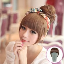 Hk beauty fang wig Female bang piece sideburns a knife neat bang wig Bang wig package mail