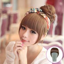 Hk beauty fang wig Female bang piece sideburns a knife neat bang wig Bang wig package mail
