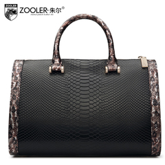 Jules snakeskin leather women bag handbag 2015 Europe Boston pillow bag lady fashion handbag