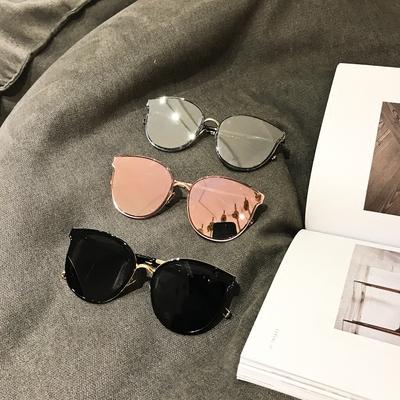 抖音陈浩南同款墨镜水银镜面粉色太阳镜大气时尚个性潮男女眼镜