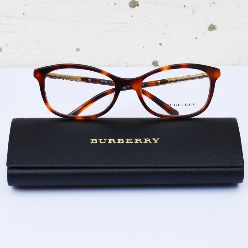大光明眼镜 格纹装饰椭圆形光学镜框巴宝莉女款眼镜架可以配镜片