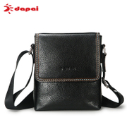 Dapai Messenger bag business leather men's casual leather men's bag satchel in baotou, one-shoulder wave