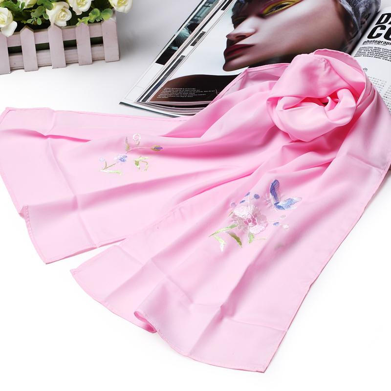 Фиолетовый имперский хунань народ характеристика река сянцзян вышивать шелк тонкий шарф ручной работы дуплекс вышивка женщина клиент друг подарок