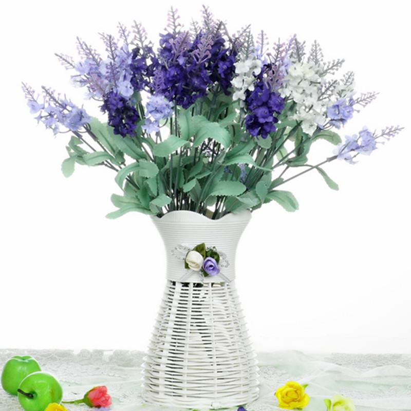 包郵薰衣草假花仿真花套裝裝飾花餐桌客廳茶幾擺件插花絹花小盆栽
