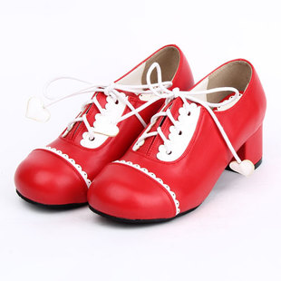 Hot new shoes lace dress shoes LOLITA 8063A red