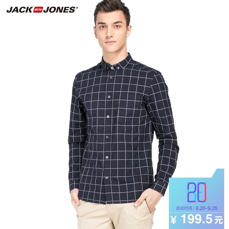 傑克瓊斯純棉合體男士襯衫