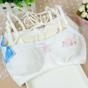 Sweet and lovely girl underwear bra halter style development of students no rims bra underwear vest 5528
