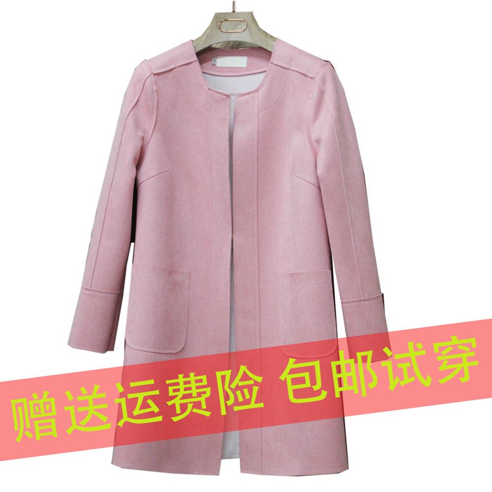 В Европе женщин длинные тонкие оленьей кашемировые пальто новой корейской версии большого размера тонкий джемпер пальто пальто осень