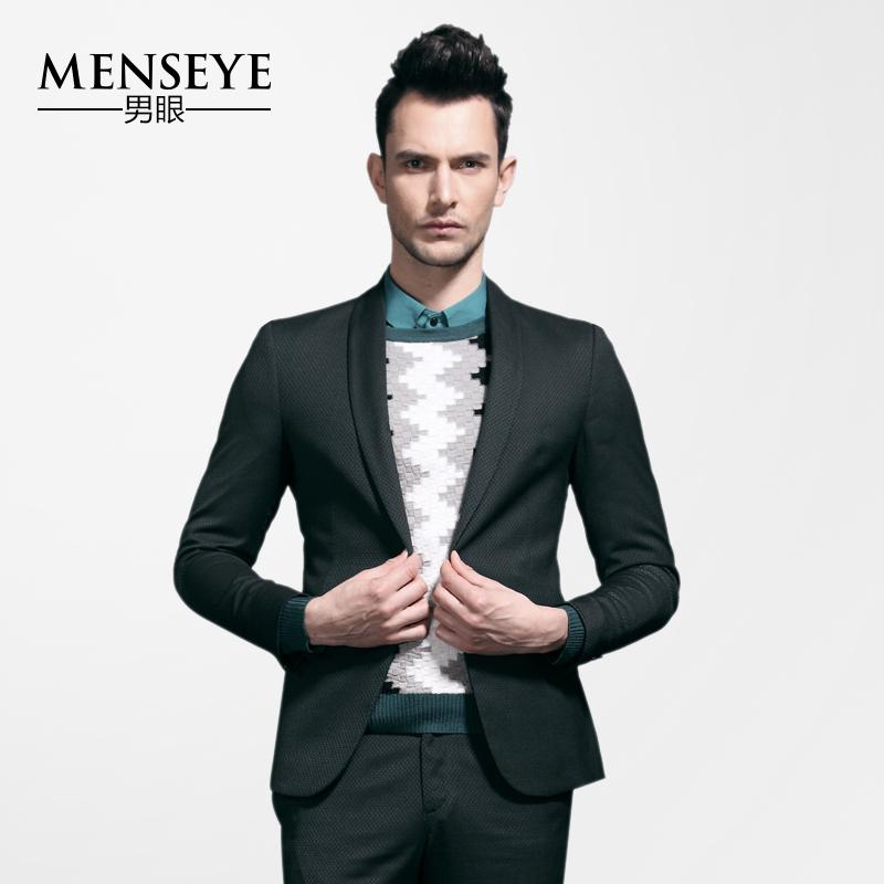 Menseye/осень/зима мужского глаза новый элегантный партии моды города Досуг примеру тонкий Костюмы свадебные