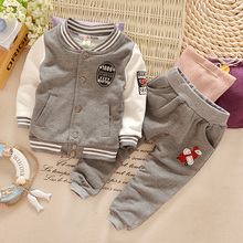 Children's clothes fall 2015 new baby autumn outfit male long suit movement set of 0-123 - year - old baby autumn clothes