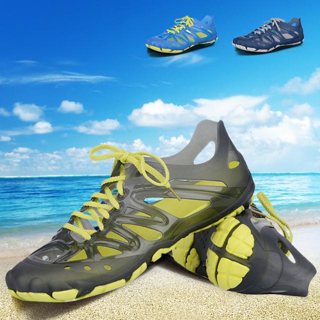 夏季驾车男凉鞋男式透气洞洞鞋包头镂空沙滩鞋男溯溪鞋子休闲运动
