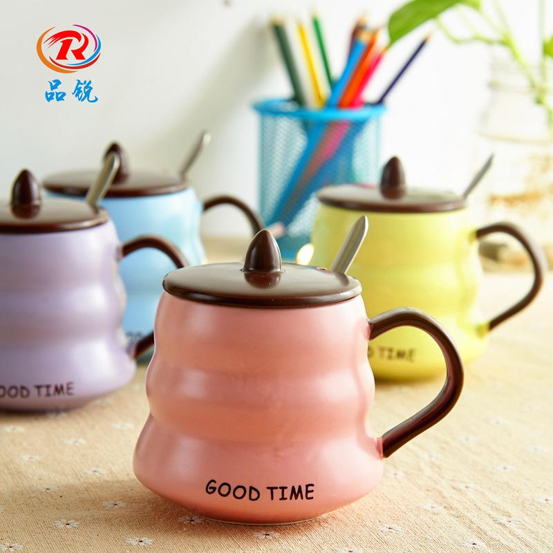 Цзинь Руи Творческий Керамический пояс корпус Ложка наслаждения чашка милый для влюбленной пары Кофейная чашка