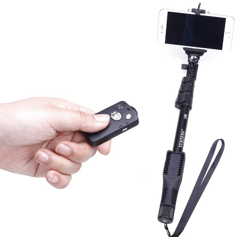 云腾1288手机自拍杆拍照苹果iphone8x安卓通用便携无线蓝牙遥控器