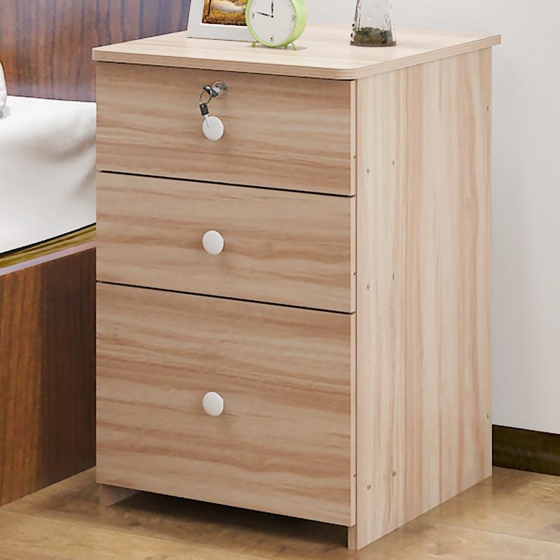 歐意朗床頭櫃收納帶抽屜儲物資料櫃落地式移動文件櫃矮櫃活動櫃子