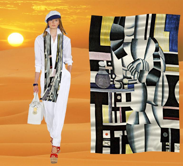定制围巾披肩春秋百变  肚兜丝巾裹裙世界名画两个女人在洗手间