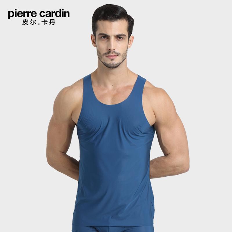 皮尔卡丹内衣 专柜同款P539936冰丝滑爽无痕打底轻薄窄肩男士背心
