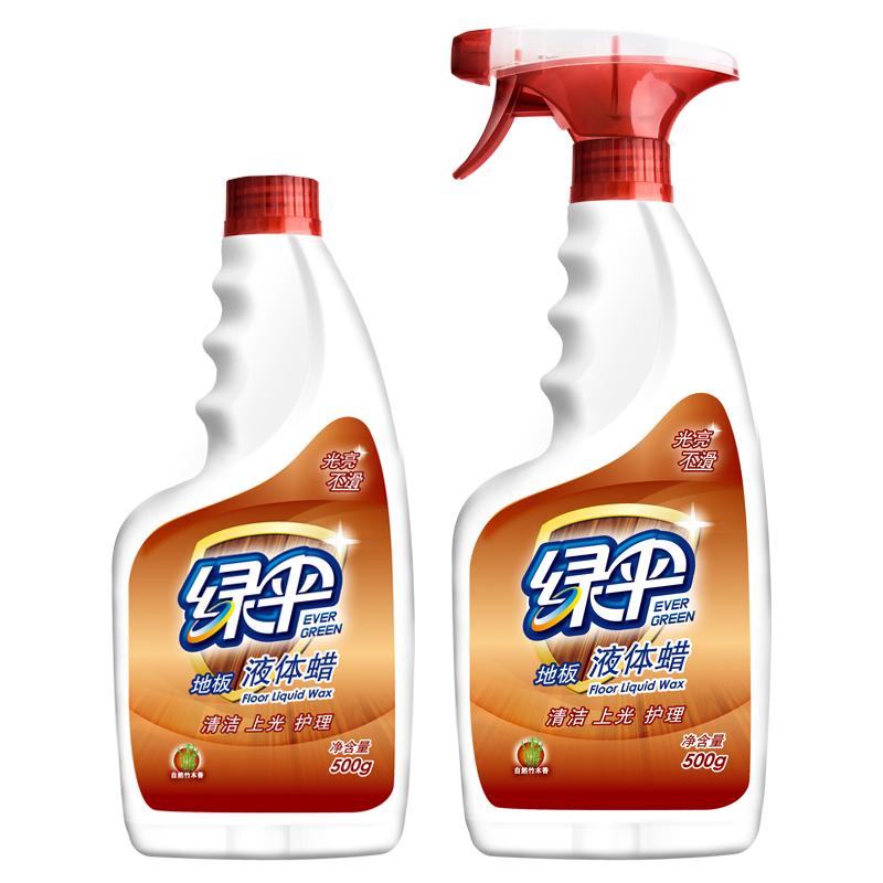 ~天貓超市~綠傘地板蠟500^~2瓶 竹木香型實木複合地板保養護理劑