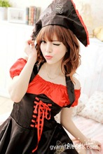 lingerie Pirate uniform temptation sexy summer fun pajamas sleep skirts role-playing game