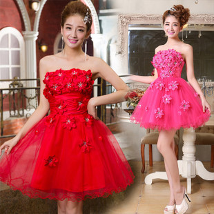 The bride married evening dress short paragraph bridesmaid dress wedding dress bridesmaid dress tutu can be customized wholesale
