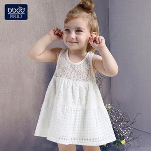 女童连衣裙婴儿夏装0-5岁韩版蕾丝背心裙子儿童裙夏女宝宝公主裙
