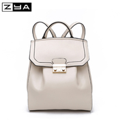 ZYA College wind backpack girl Korean version 2015 summer tide slim Candy-colored backpack bag dual-use bag women